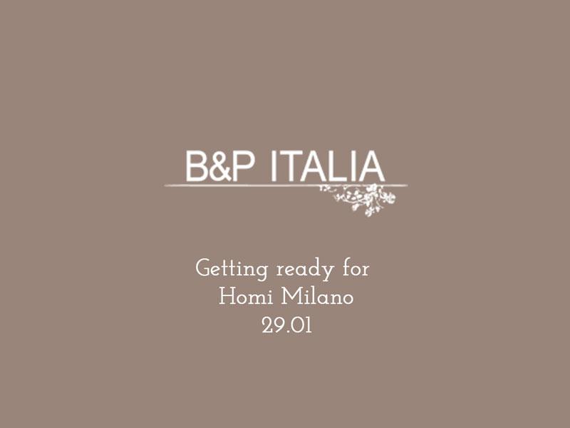 Stand di B&P Italia in preparazione per Homi Milano